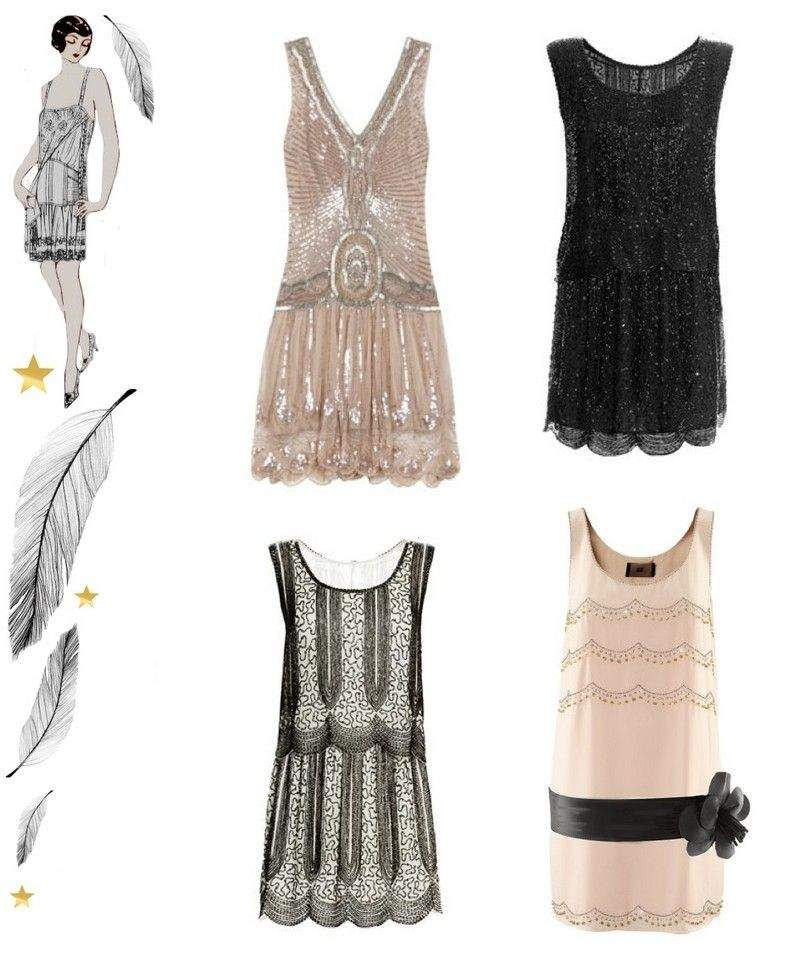 db271403f5c8e idées de robe charleston années 20 inspirée par Gatsby le Magnifique