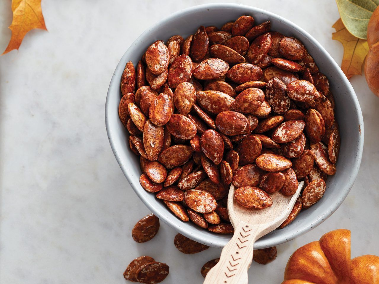 Cinnamon-Maple Roasted Pumpkin Seeds Get out the m