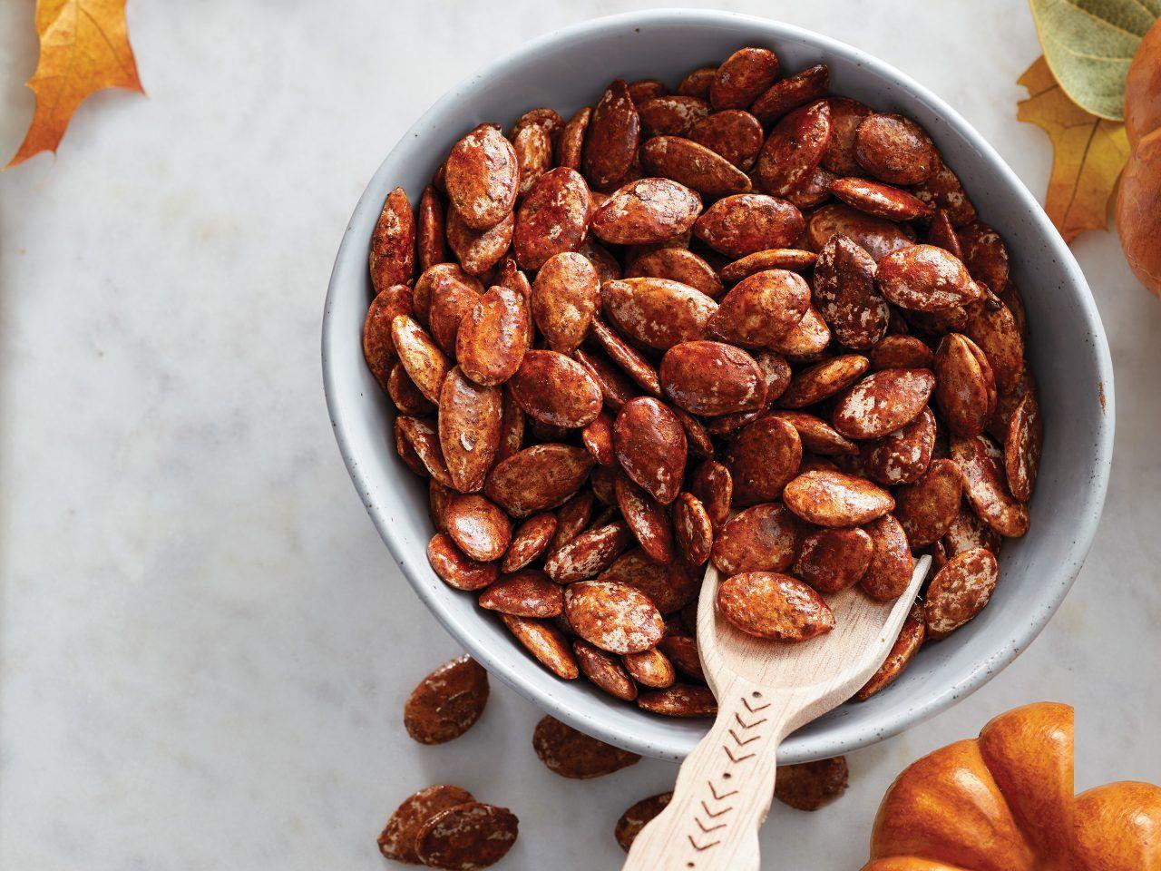 Cinnamon-Maple Roasted Pumpkin Seeds
