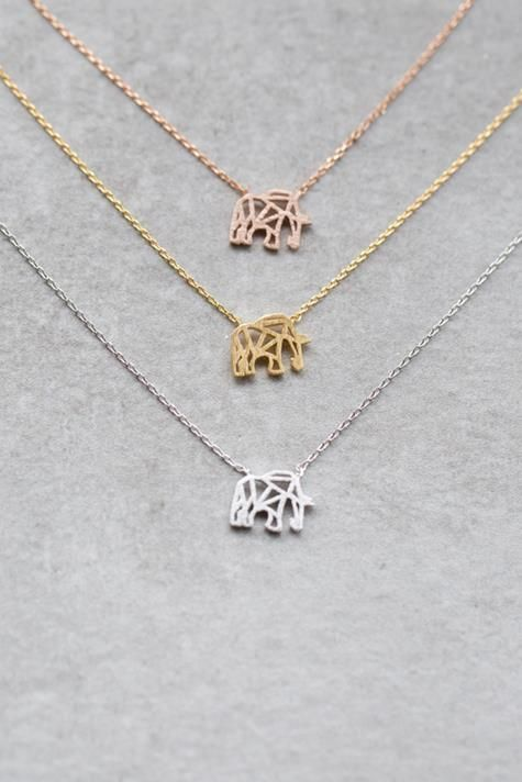 Cute elephant necklace in gold rose gold and silver gold cute elephant necklace in gold rose gold and silver gold jewelry aloadofball Images
