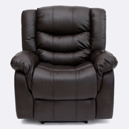 Cheshire Leather Manual Recliner Chair In Brown Recliner Chair Manual Recliner Chair Recliner