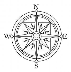 Compass Rosa De Los Vientos Dibujo Halloween Para Colorear Brujulas Dibujo