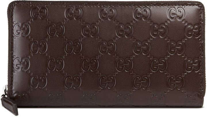 Gucci Signature zip around wallet   Pinterest c1a2e376ea6