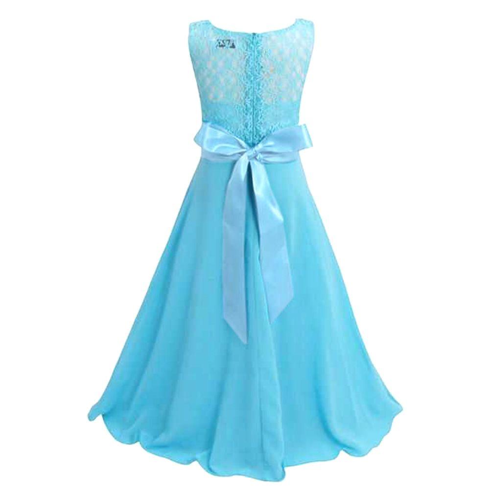 Girls Strapless Princess Dress Children Soft Lace Formal Costume ...