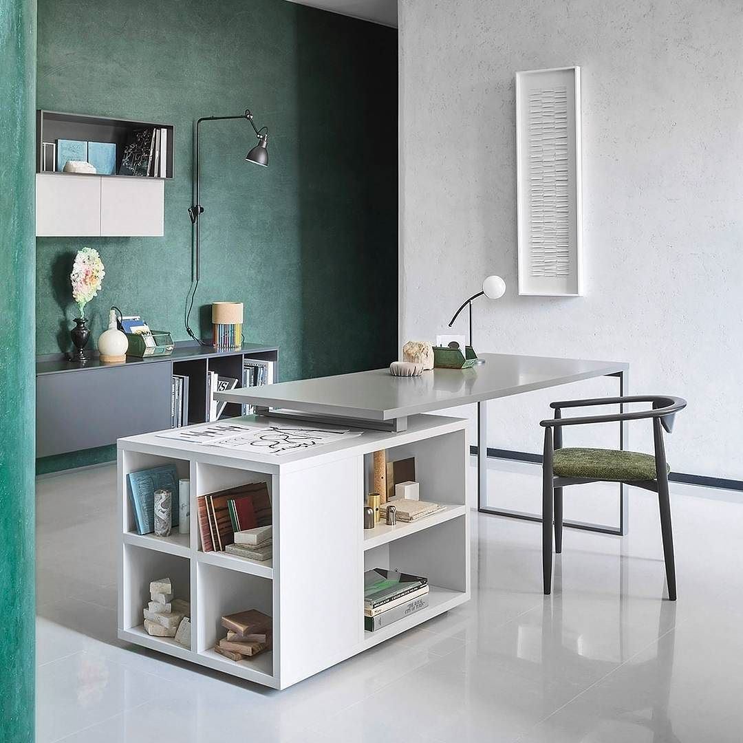 Design Arbeitszimmer der novamobili schreibtisch hat ein minimalistisches design mit viel