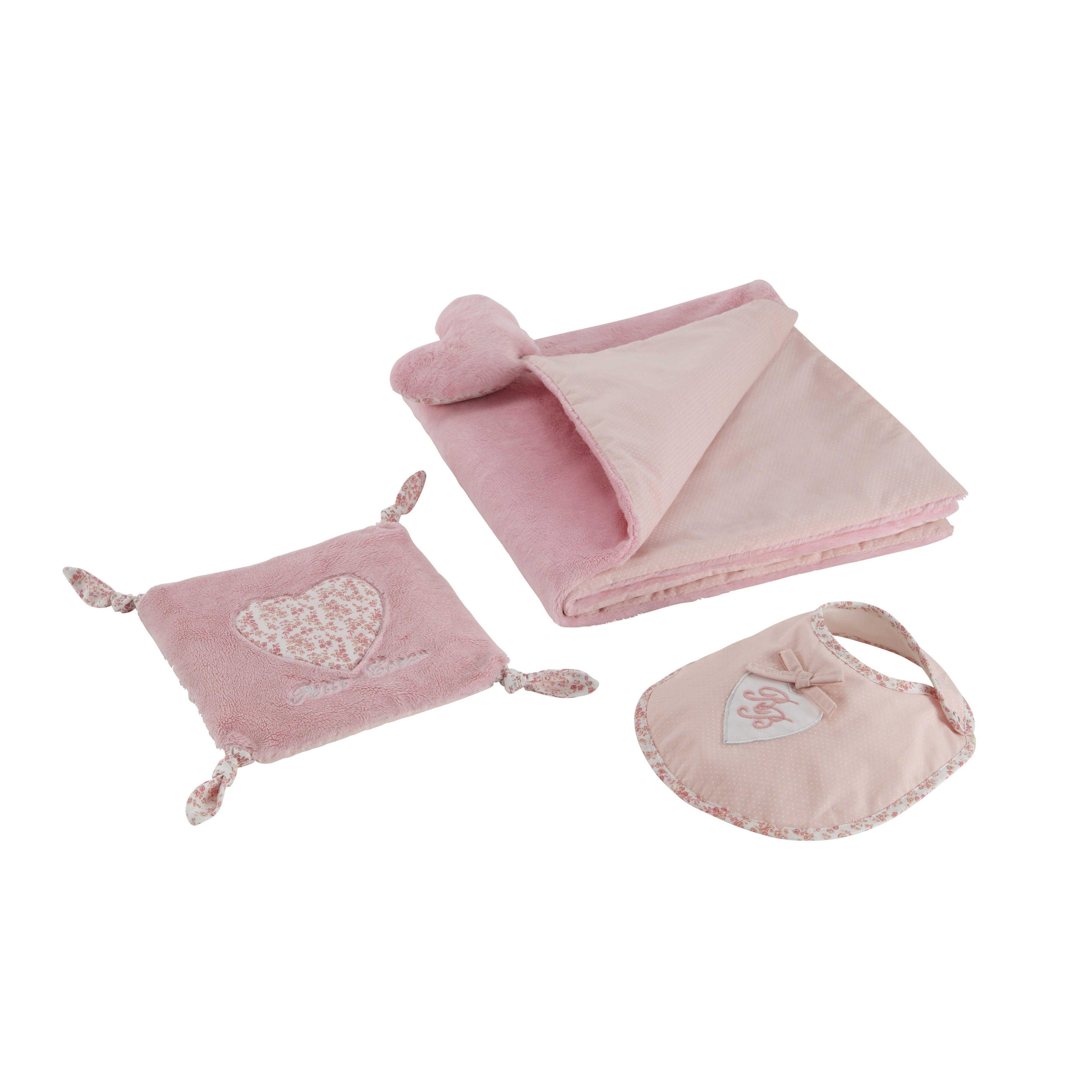 coffret cadeau naissance motif c urs rose victorine maisons du monde pinterest coffret. Black Bedroom Furniture Sets. Home Design Ideas