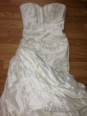 PRONOVIAS BARCELONA OFF WHITE IVORY WEDDING DRESS SIZE XS (0-4) SEE DETAILS