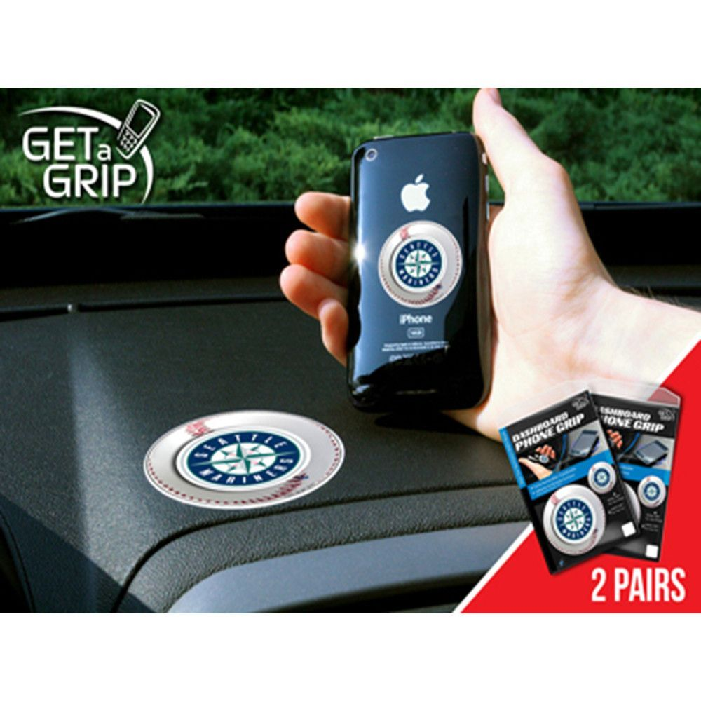Seattle Mariners MLB Get a Grip Cell Phone Grip Accessory (2 Piece ...