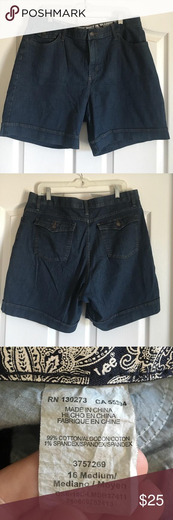 Lee dark-wash womens shorts, size 16, EUC Lee dark wash shorts ...