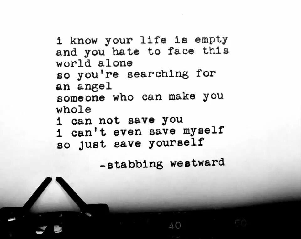 Stabbing westward | song lyrics/quotes | Pinterest | Song lyric ...