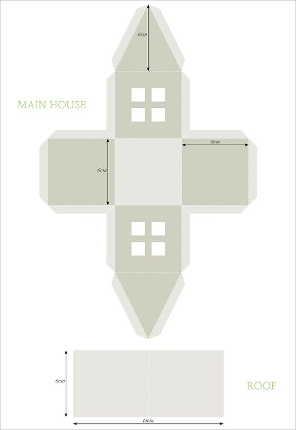 Paper House Template - 19+ Free PDF Documents Download | craft ...