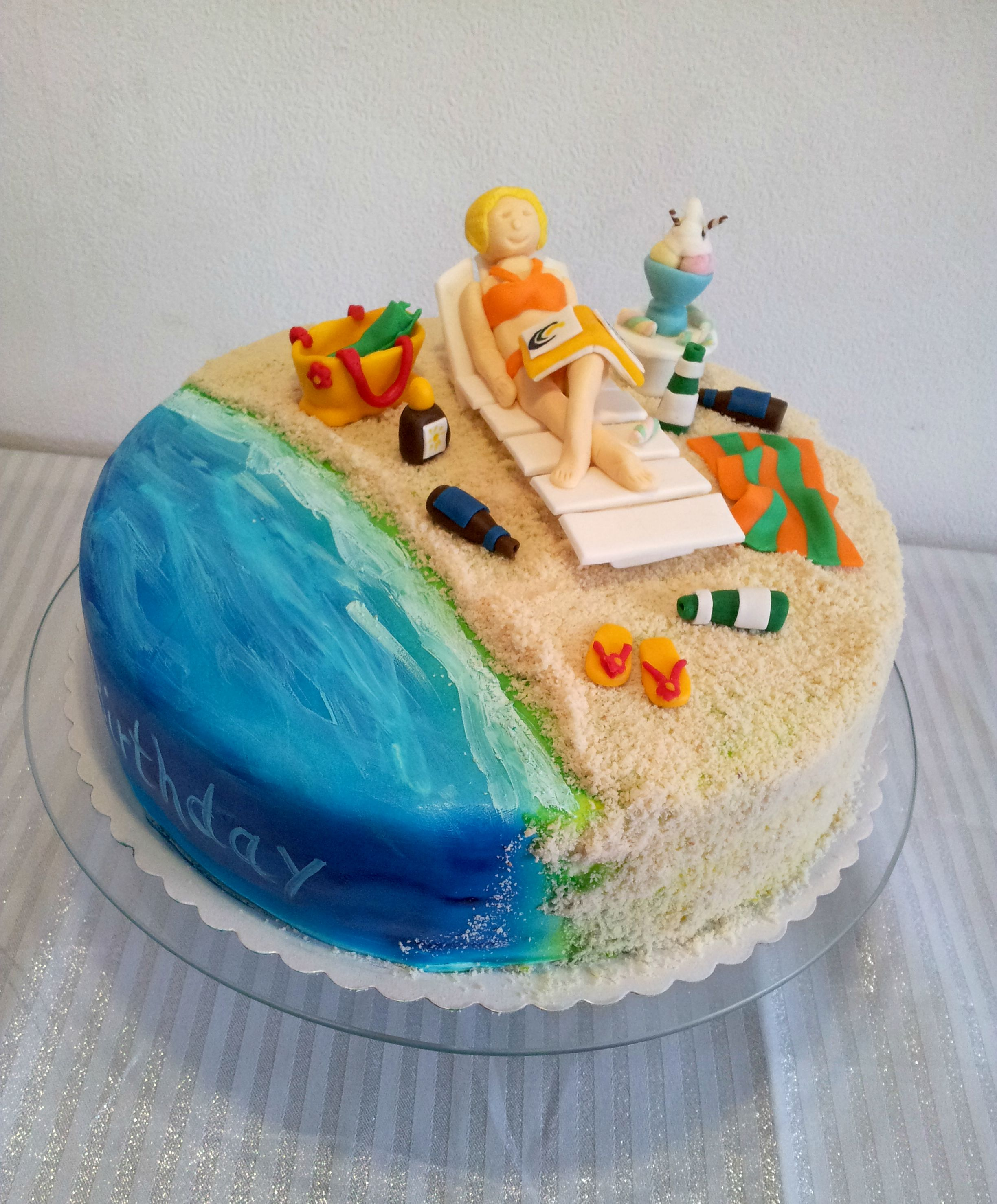 Edible Beach Themed Cake Decorations: Holiday Themed Cake Decorations
