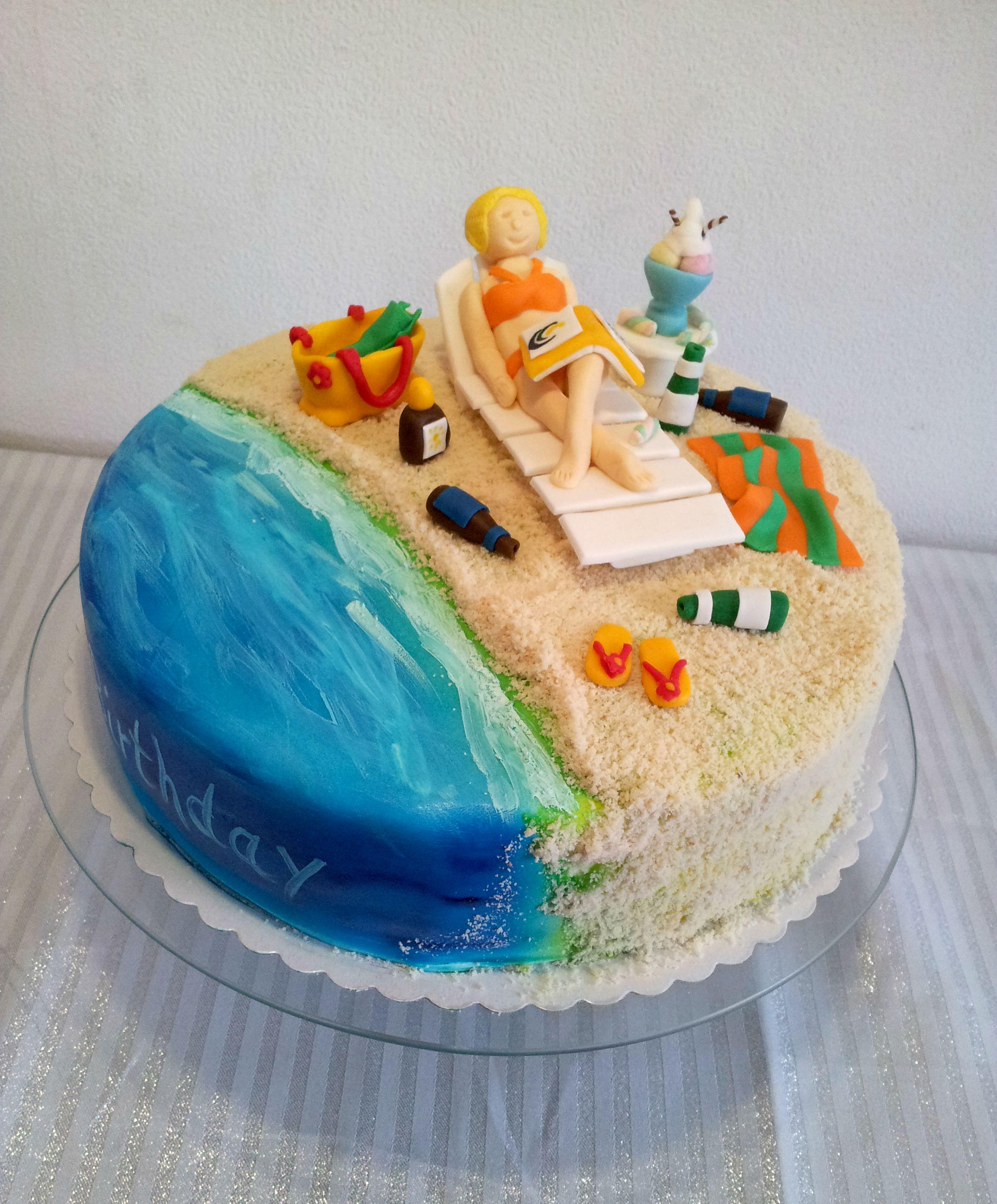 Holiday Beach Cake