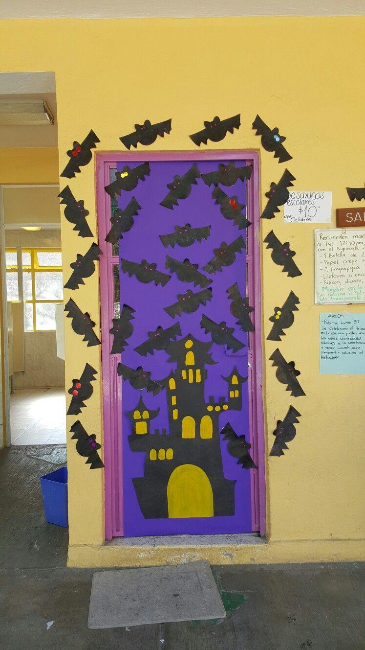 Pin de karys contreras en d a de muertos pinterest for Puertas decoradas para regreso a clases