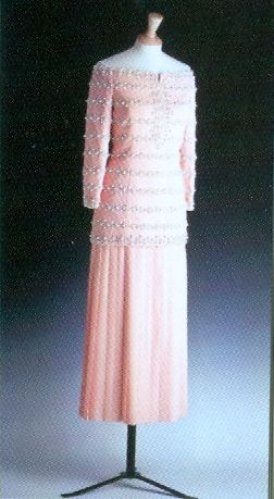 Salmon Pink Pearl Bodice Gown