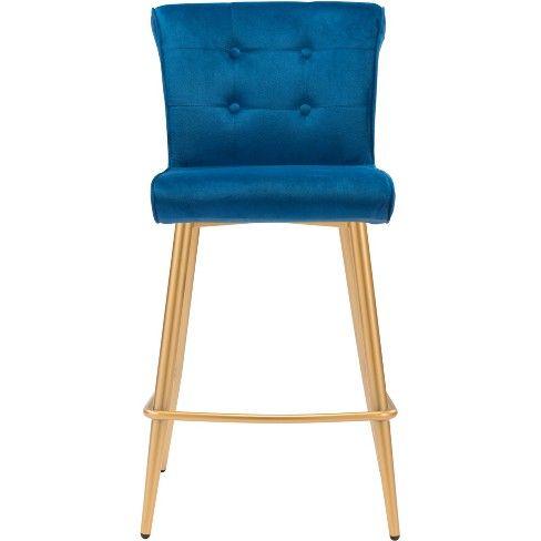 Swell 26 Modern Glam Counter Chair Blue Zm Home In 2019 Machost Co Dining Chair Design Ideas Machostcouk