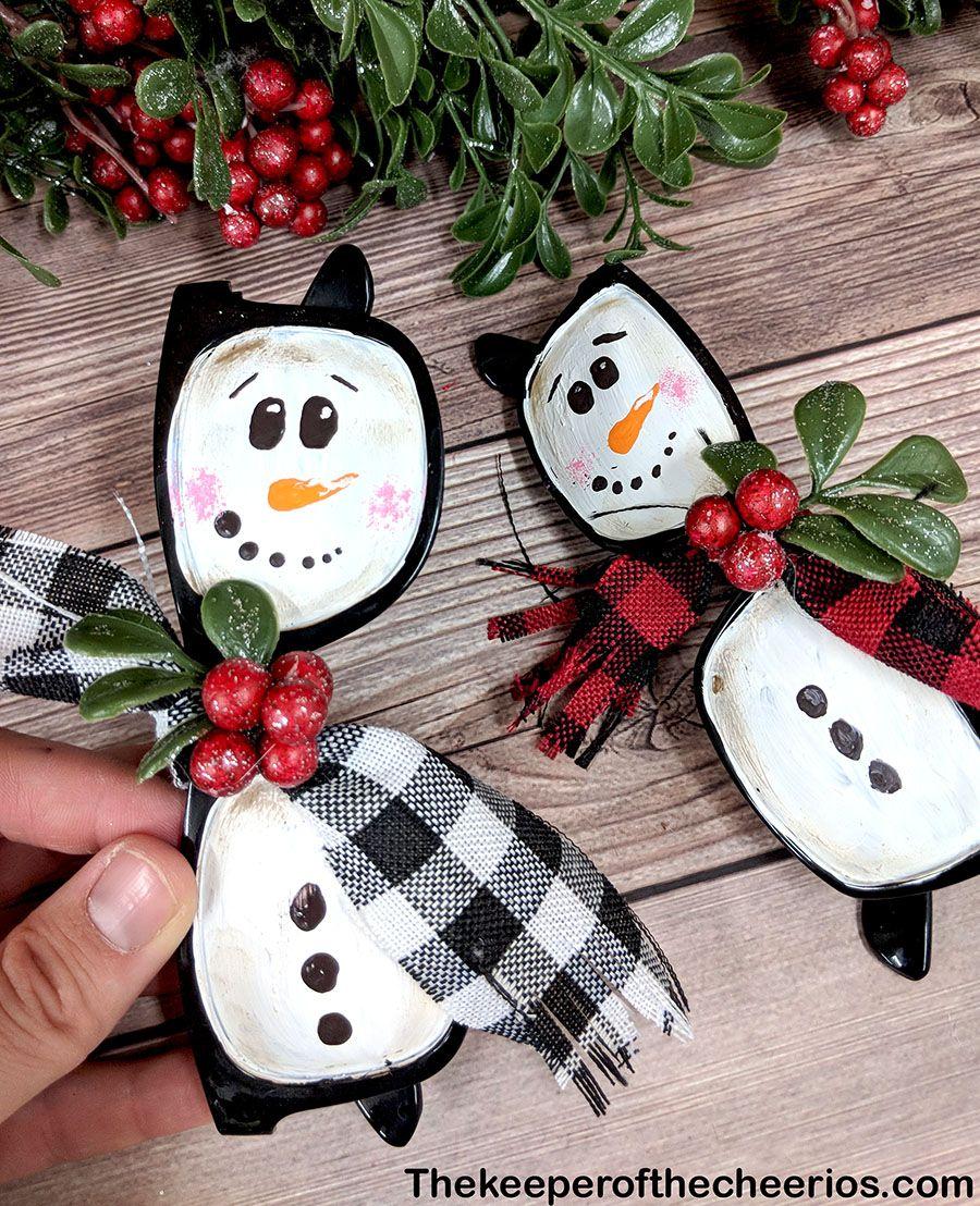 Snowman Sunglasses Christmas Ornament The Keeper Of The Cheerios Diy Christmas Ornaments Diy Christmas Snowman Christmas Crafts Diy