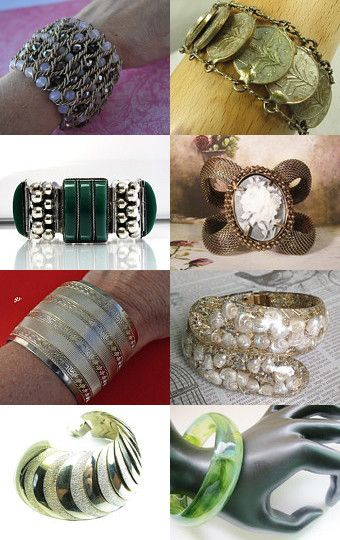 Bold Beautiful Bracelets from Vjt by moonbeam0923 on Etsy--Pinned with TreasuryPin.com