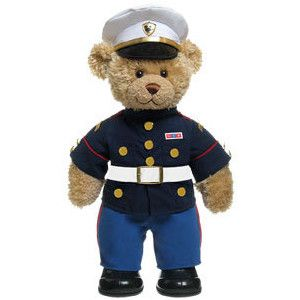I want a little Marine bear for when my Marine is gone :)