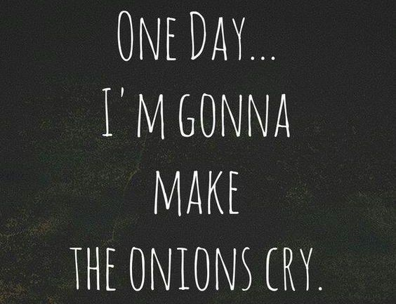 One day I'm gonna make the onions cry - Wendy's Wondere Wereld - doelen voor 2016