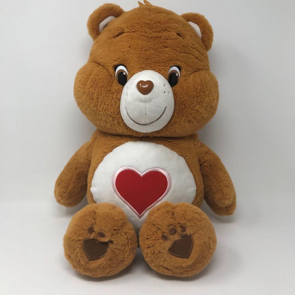 "cd2f5e2009a 2014 Care Bears Tenderheart Bear Large Jumbo Plush 22"" Just Play Orange  Brown  CareBears  AllOccasion"