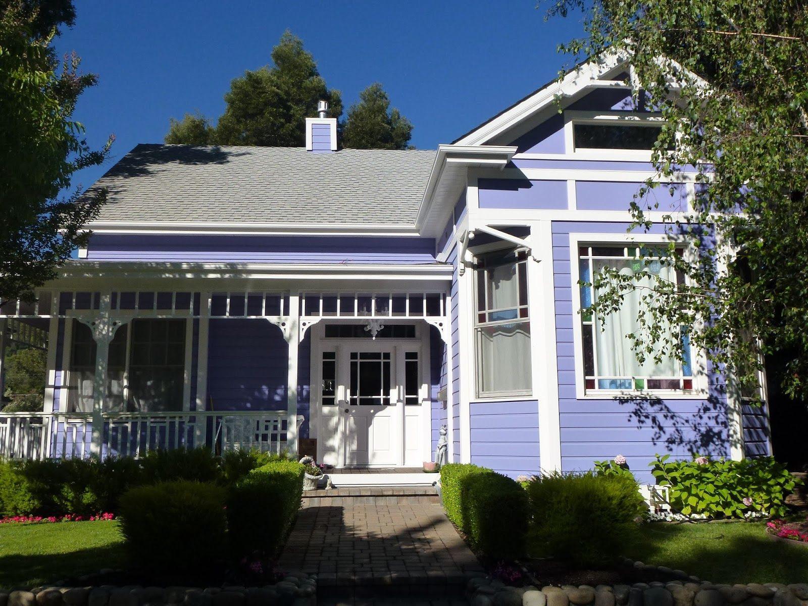 trim colors for purple houses - Google Search