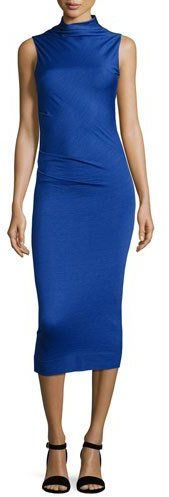 Rag & Bone Francis Sleeveless Wool Midi Dress, Bright Blue