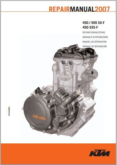ktm 250 300 xc xc w 2004 2010 workshop repair service manual