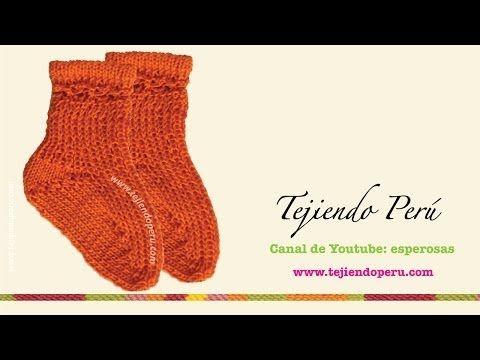 CURSO DE TEJIDO DOS AGUJAS: Cómo tejer medias / calcetines paso a paso en video   Crochet y Dos agujas