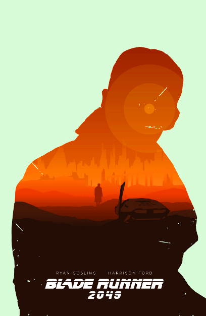 Blade Runner 2049 The Aesthetic Of The Protagonists Silhouette Capturing The Scenes Of The Movie Appealed To M Blade Runner Blade Runner Art Film Posters Art