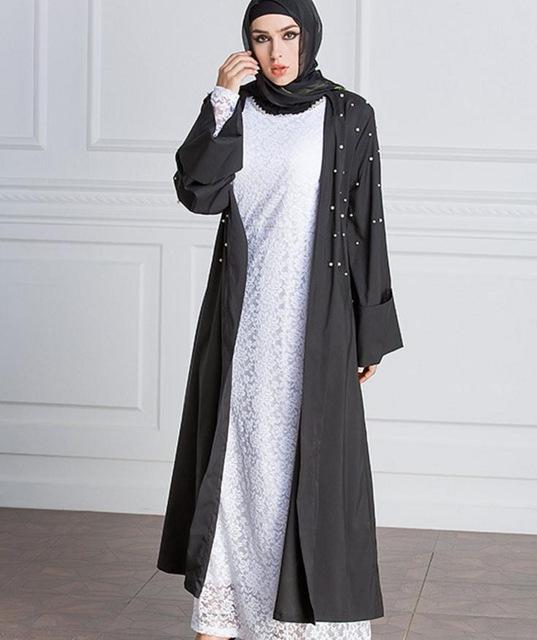 4ad7738e7a2b7 Beaded Abaya Outwear   gamis syar'i   Duster coat, Jackets, Coat