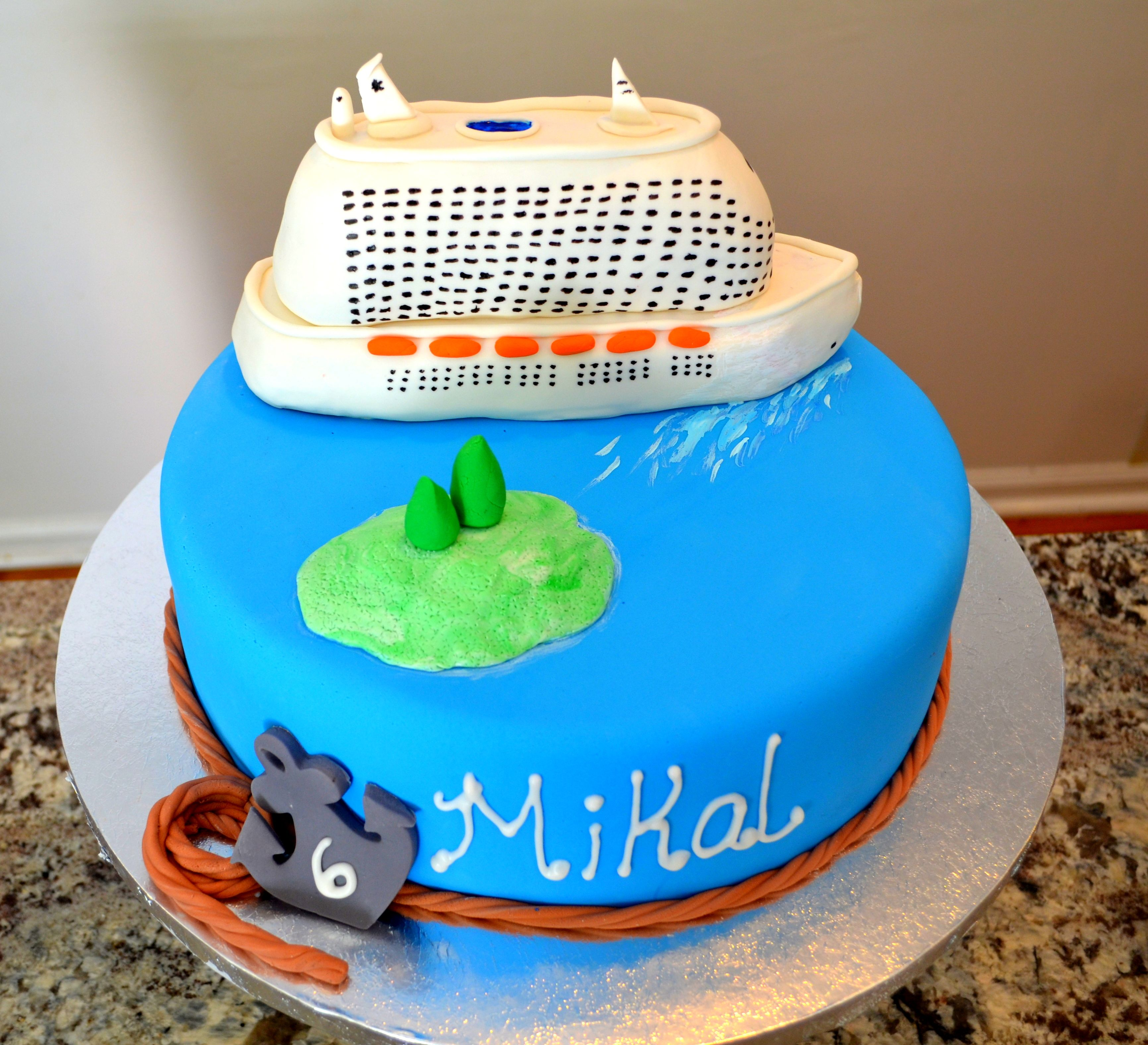 Cruise Ship Birthday Cake Cherry on Top Delights Pinterest