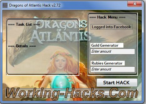 Dragons Of Atlantis Hack V2 72 Get Unlimited Gold And Rubies Atlantis Dragon Hacks