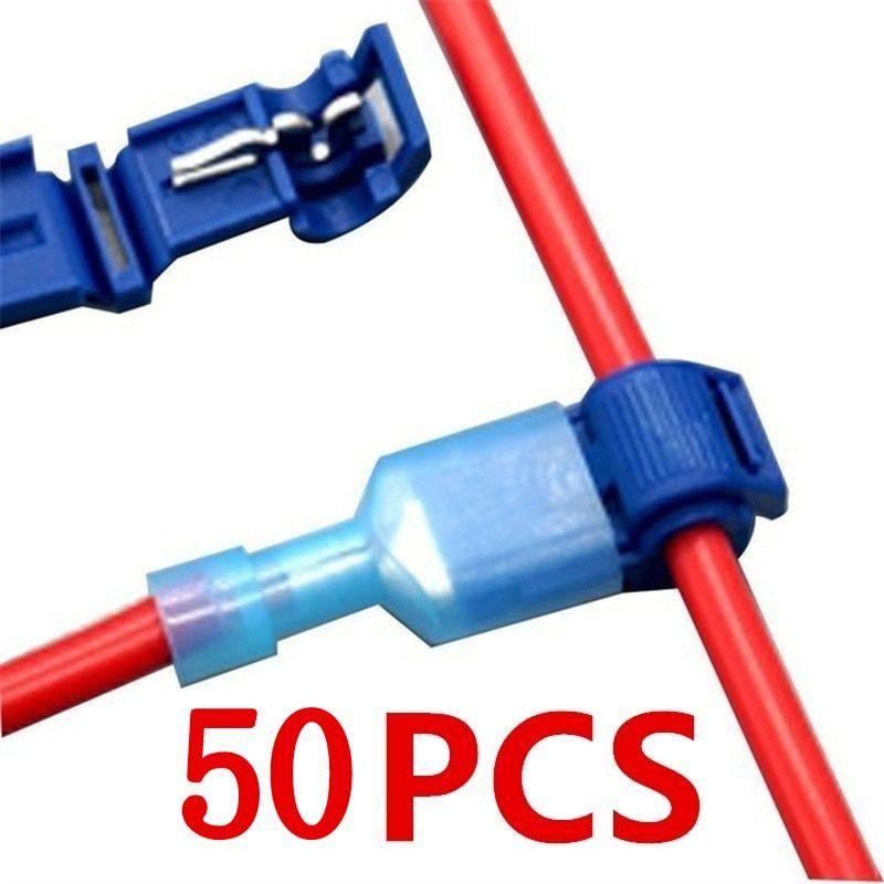 50pcs 25set Quick Electrical Cable Connectors Snap Splice Lock Wire Terminal Crimp Wire Connector Waterproof Ele Electrical Cables Wire Connectors Electricity