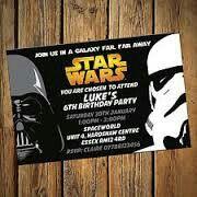 Tarjeta Invitación Star Wars Invitaciones De Cumpleaños