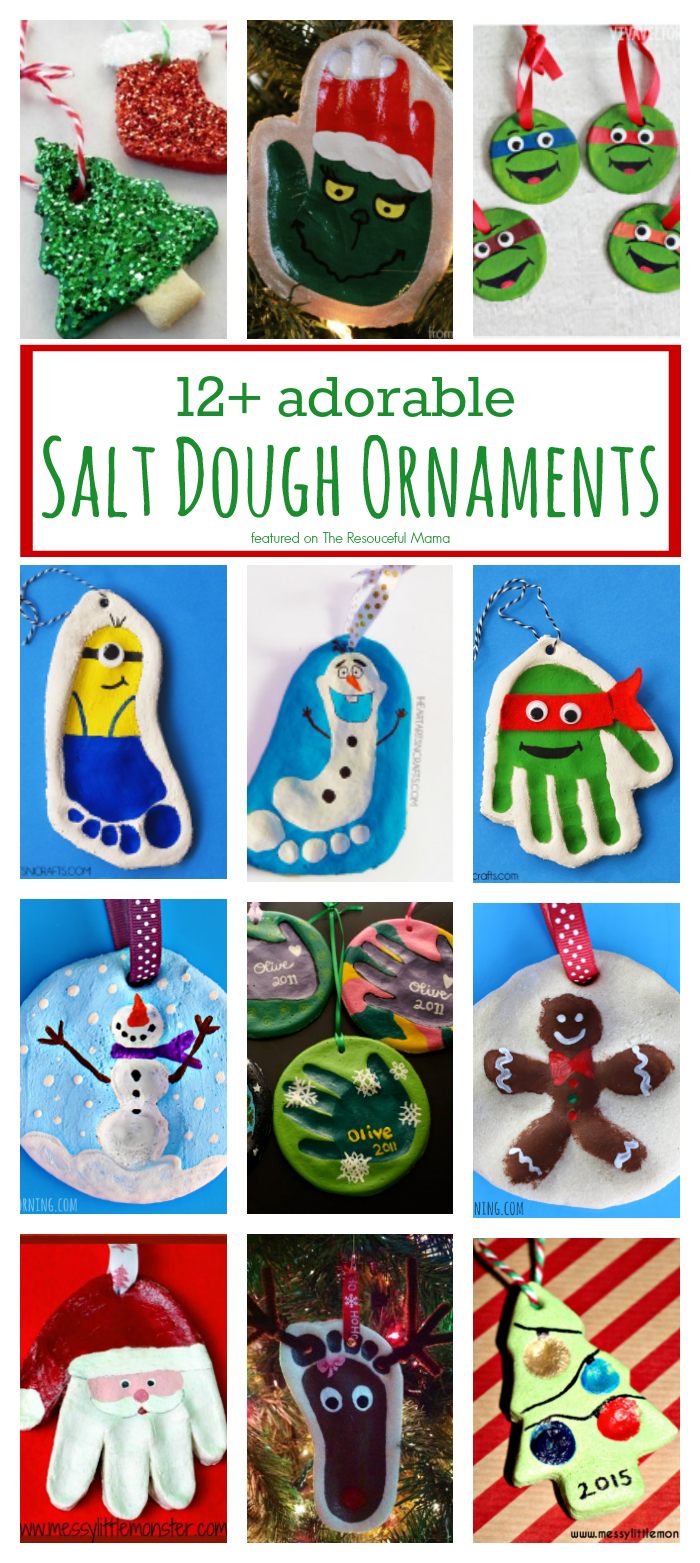 12 Adorable Salt Dough Ornaments Kids Christmas Ornaments Kids Ornaments Handprint Ornaments