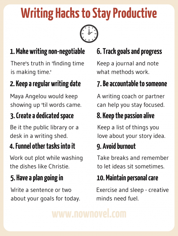 Writing Hacks: 10 Rules to Keep Up Writing Motivation | Now Novel