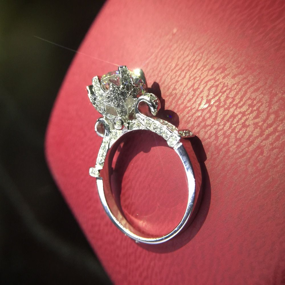 luxury quality trendy 2 CT Carat anniversary wedding engagement ...