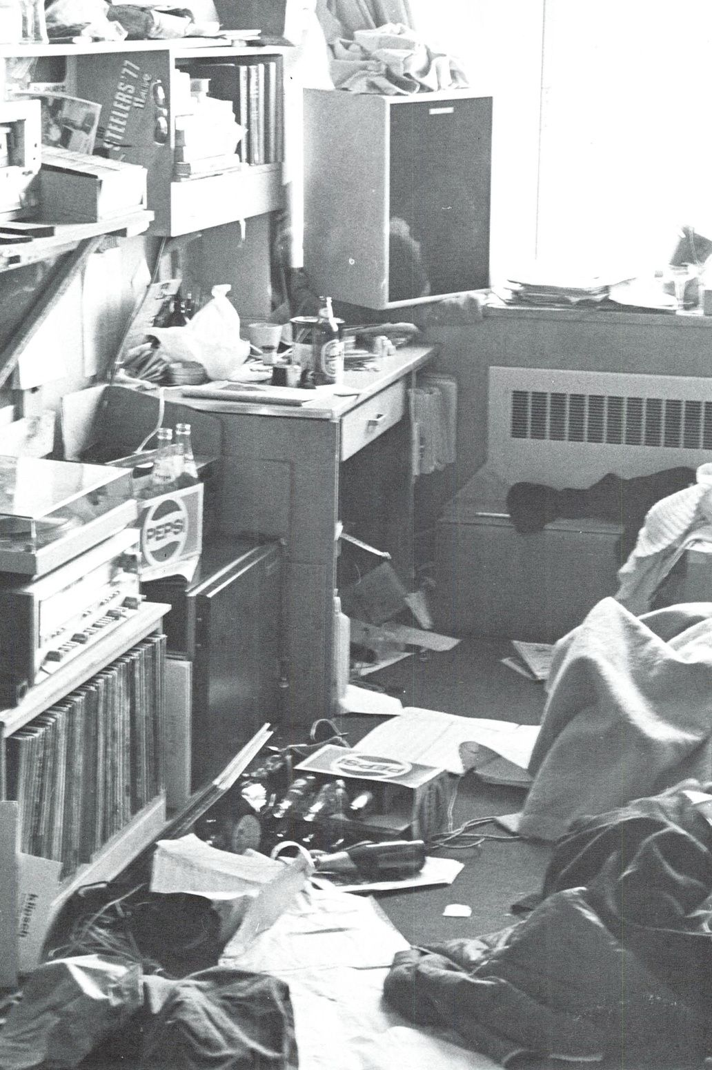 Typical Dorm Room: Typical Dorm Room At The UO 1978. From The 1978 Oregana
