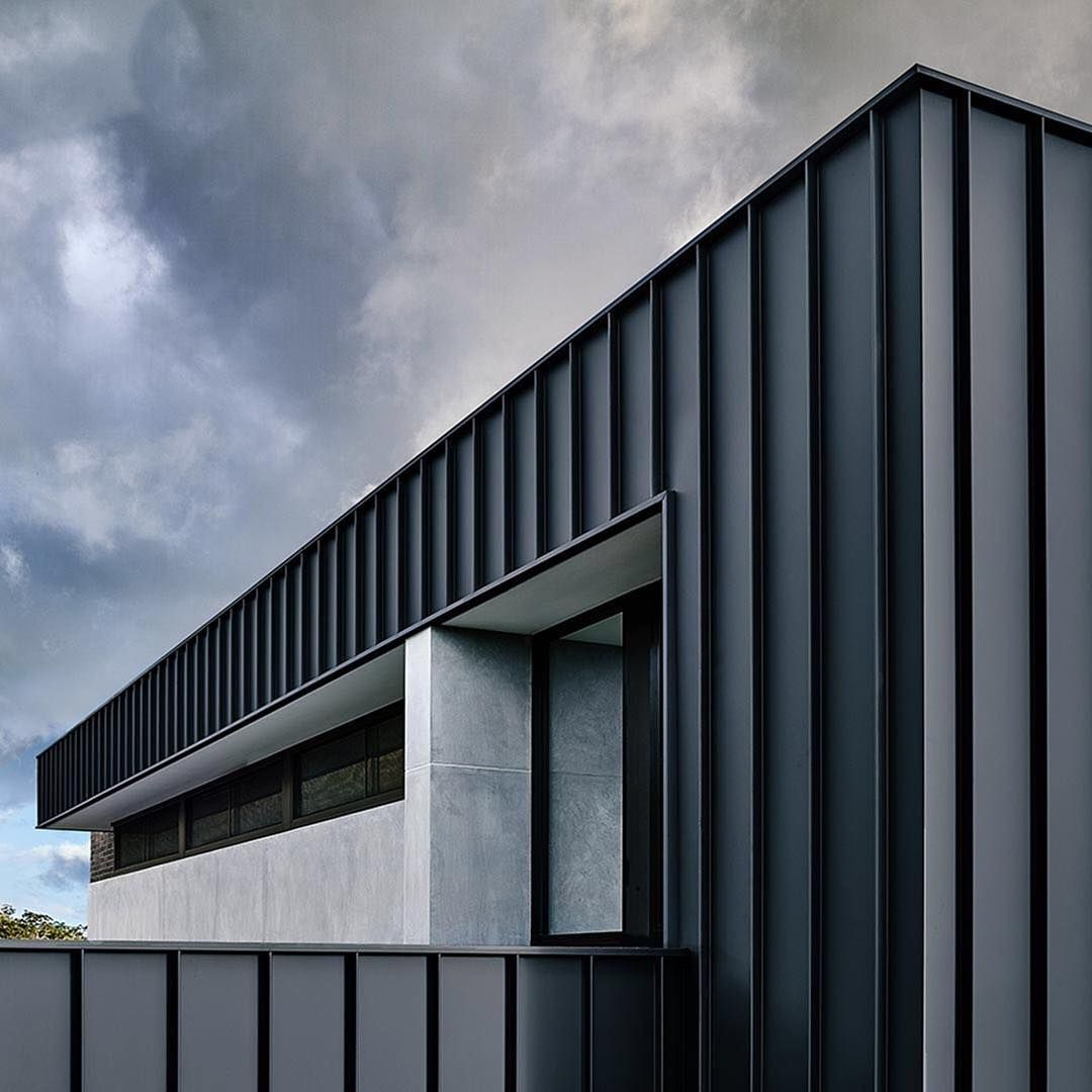 Undercoverarchitect On Instagram Great Shot Of Colorbond Steel In Matt Here Love The Crispness It Provide Building Cladding Facade House Exterior Cladding