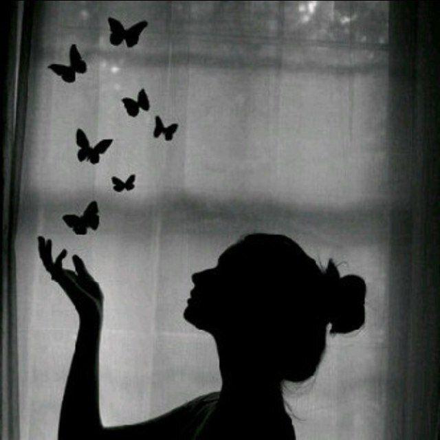 نتيجة بحث الصور عن ظل وجه بنت Shadow Pictures Butterflies Flying Art