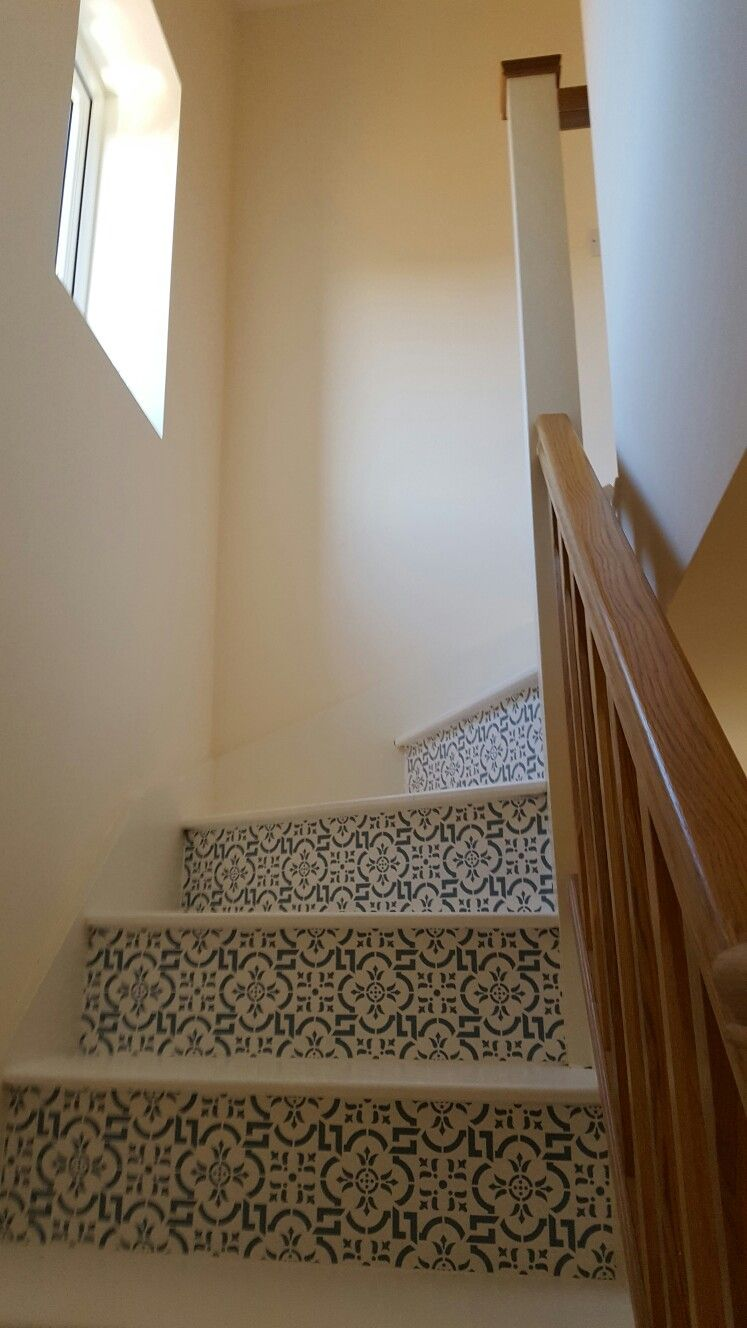 Attic stair riser decals / stickers by purlfrost. Attic