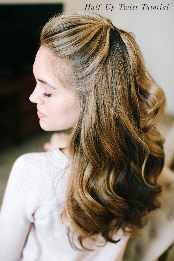 locken selber machen, honigfarbene haare, einfache
