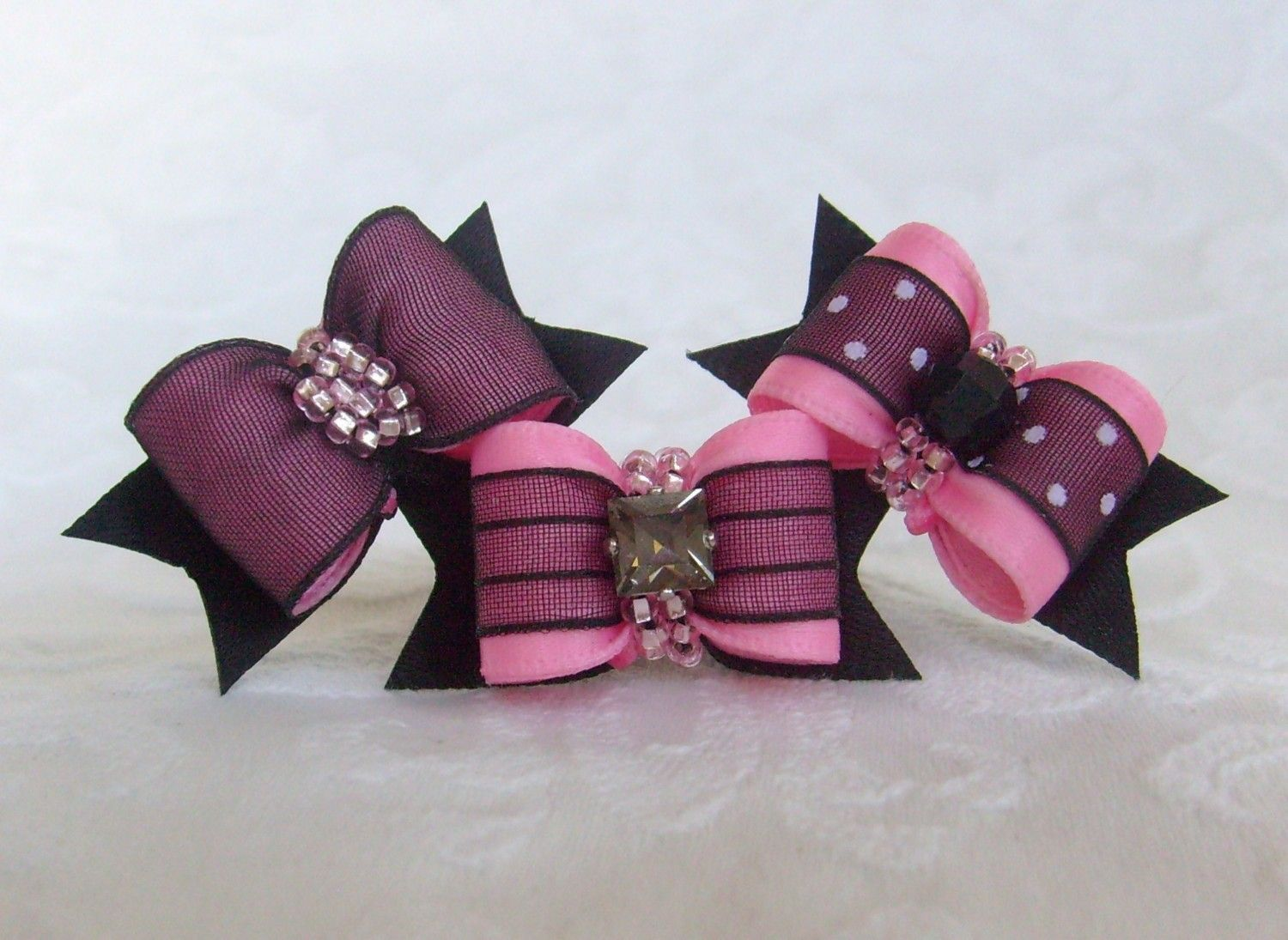 Dog Bow The Sophisticates Collection In Pink 14 99 Via Etsy