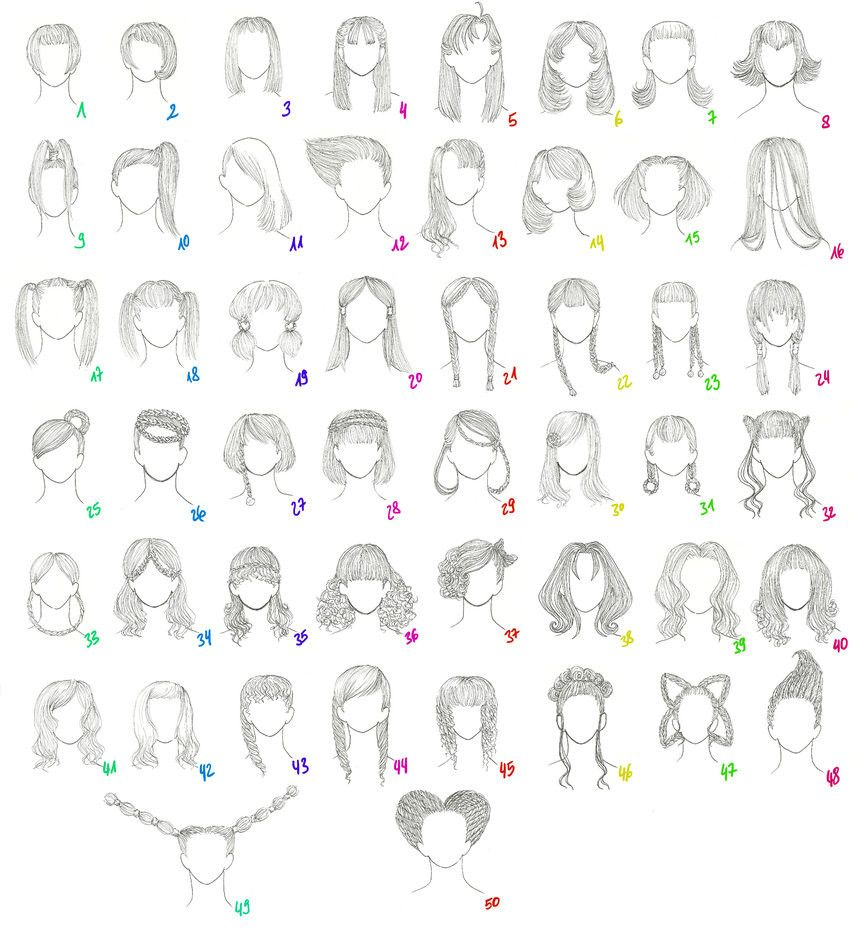 50 Female Anime Hairstyles Female Anime Hairstyles Manga Hair Anime Hair