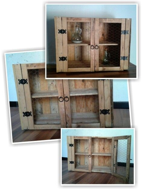 Alacena reciclaje palets madera palets muebles - Tarima para cocina ...