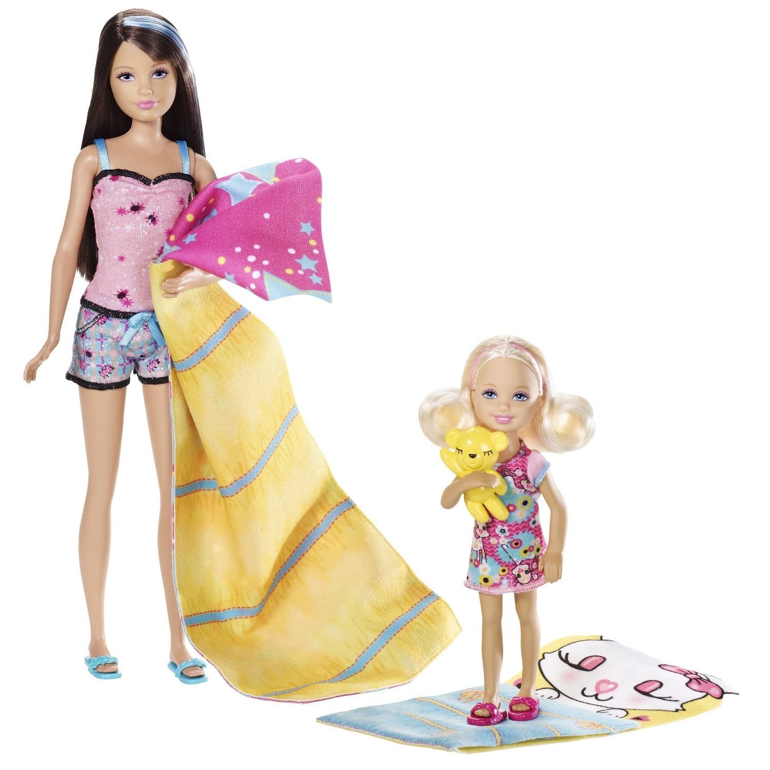 Amazon.com: Barbie Sisters Sleep Out Skipper And Chelsea Doll 2-Pack: Toys & Games