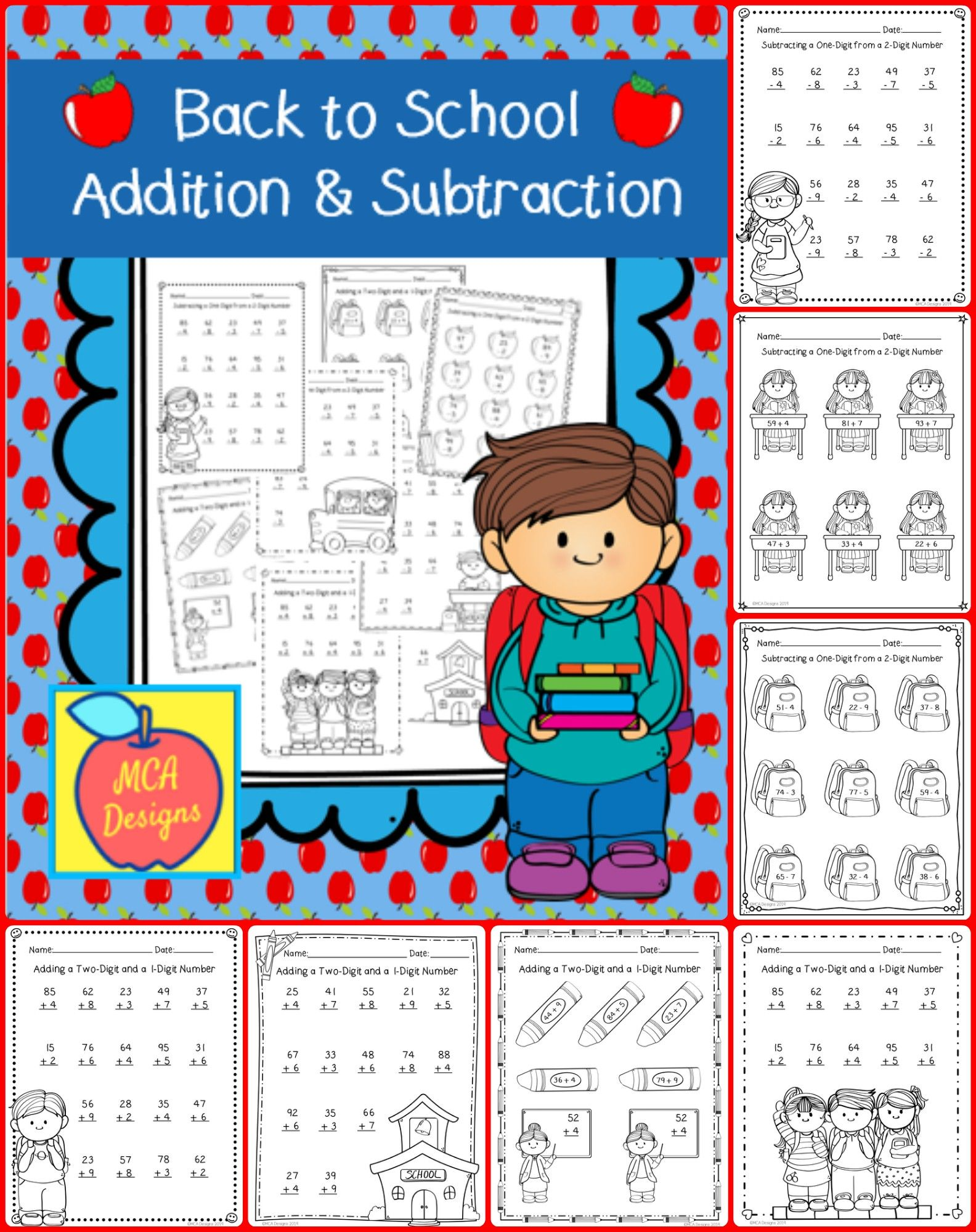Back To School Addition And Subtraction