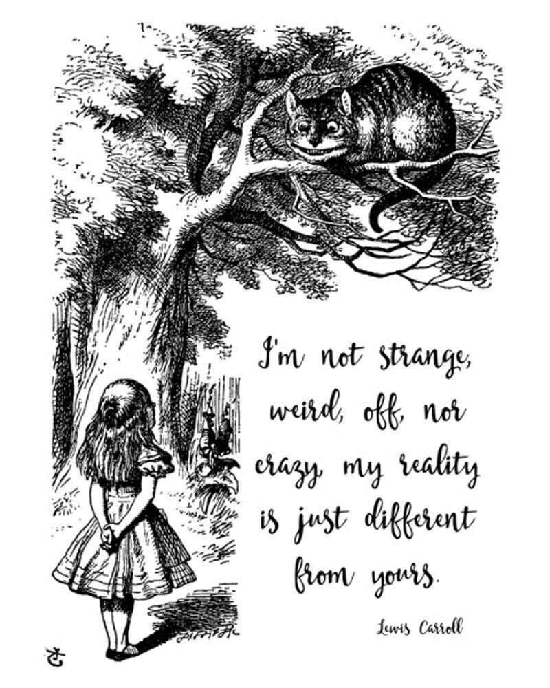 Alice in Wonderland quote, Lewis Carroll, digital wall art