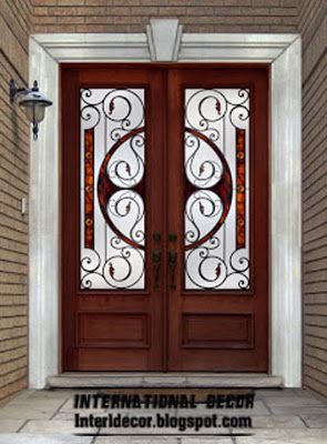 American Wooden Doors With Stained Glass Designs ~ Interior Decors